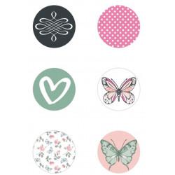 Badges - Kaisercraft - Curios - Avec Amour