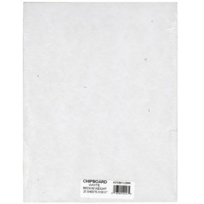 Carton 1,5 mm - A4 US (coloris recto white & verso kraft)