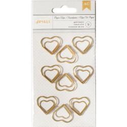 Clip métallique Coeur doré - American craft