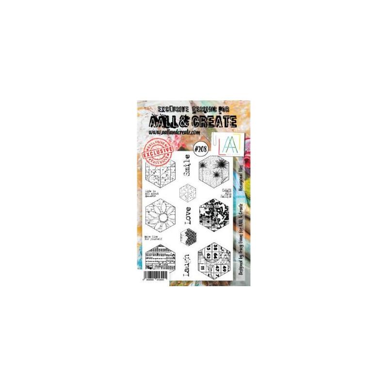AALL & Create Stamp -208 - Hexagones