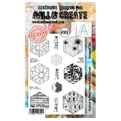 AALL & Create Stamp -208 - Hexagones