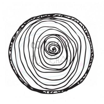 Comptoir Scrap - Tampon - Fleur en rondelle