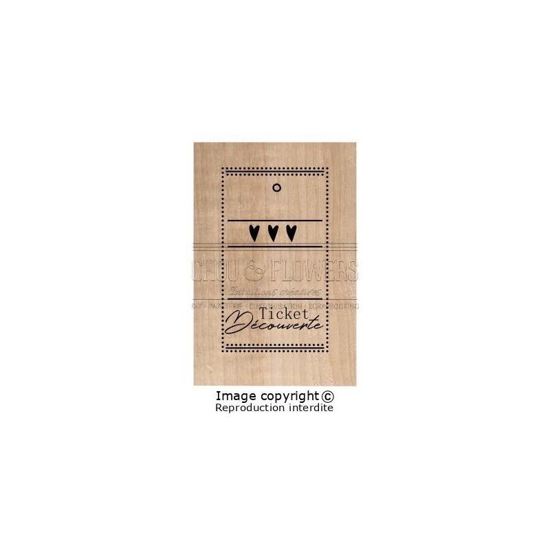 Tampon bois Chou & Flowers - Ticket Découverte