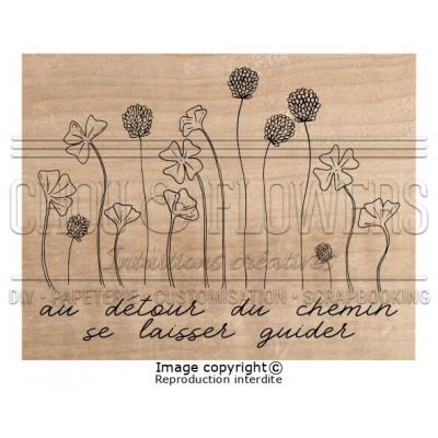 Tampon bois Chou & Flowers - Au détour du chemin