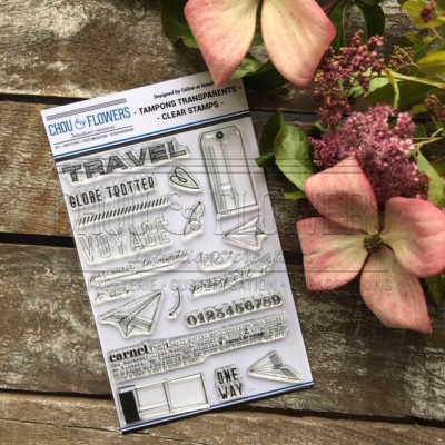 Tampons clear Chou & Flowers - Globe Trotter