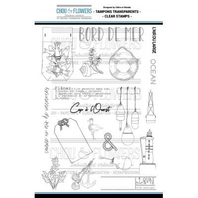 Tampons transparents Chou & Flowers - Bord de mer