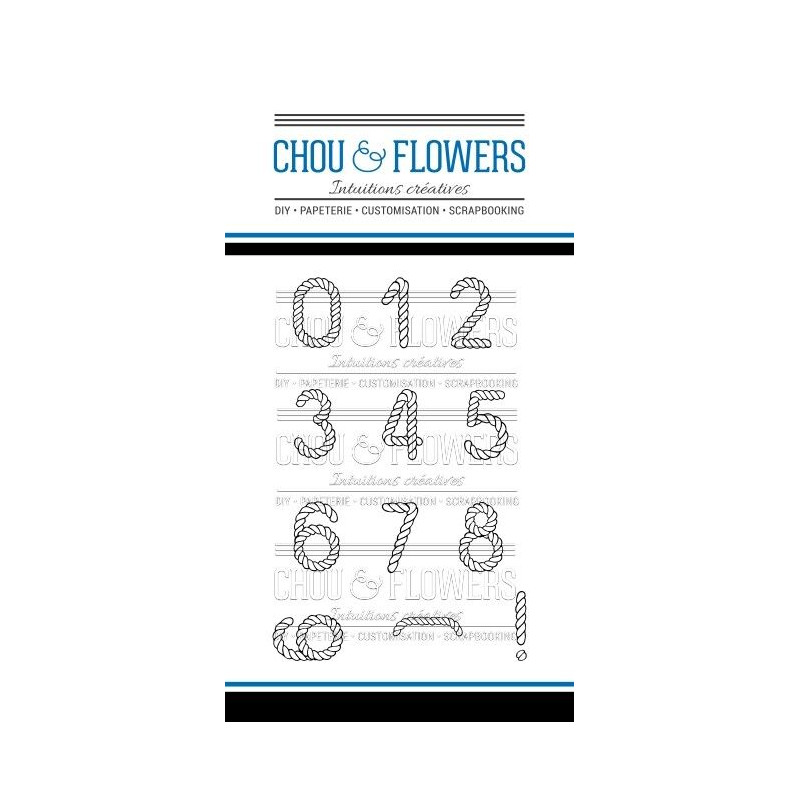 Tampons clear Chou & Flowers - Chiffre Mer
