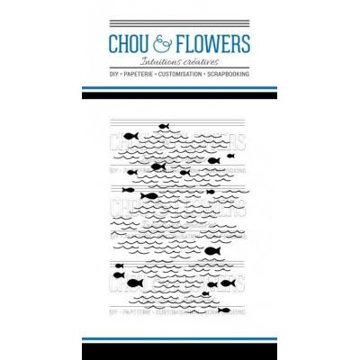 Tampons transparents Chou & Flowers - Fond de mer