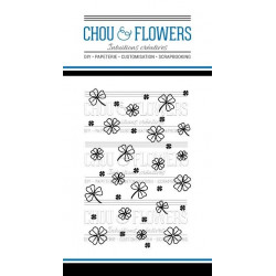 Tampons transparents Chou & Flowers - Fond trefles