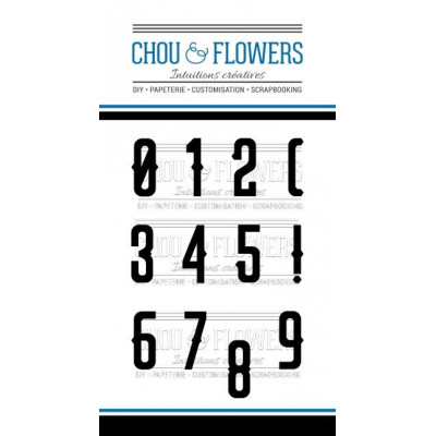 Tampons clear Chou & Flowers - Chiffre Celte