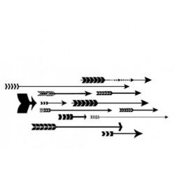 Comptoir Scrap - Tampon Flèches multiples