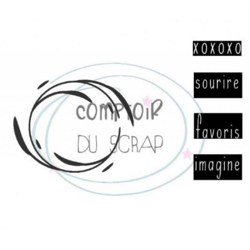 Comptoir Scrap - Tampon Set spirale avec mots
