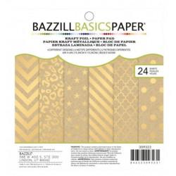 Bazzill Basics - Set de Papier Kraft métallique