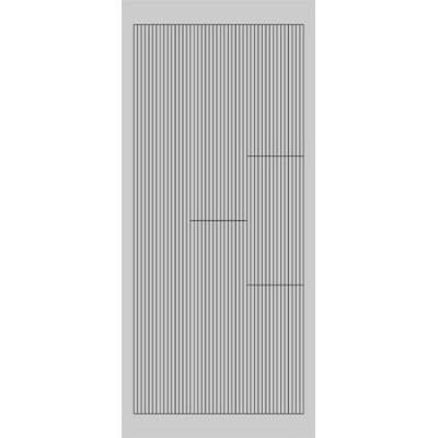 Stickers Peel-off - Lignes droites - Argent
