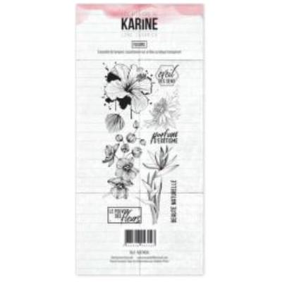 Tampons transparents Les Ateliers de Karine - Fleurs