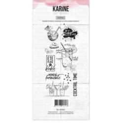 Tampons transparents Les Ateliers de Karine - Cocktails