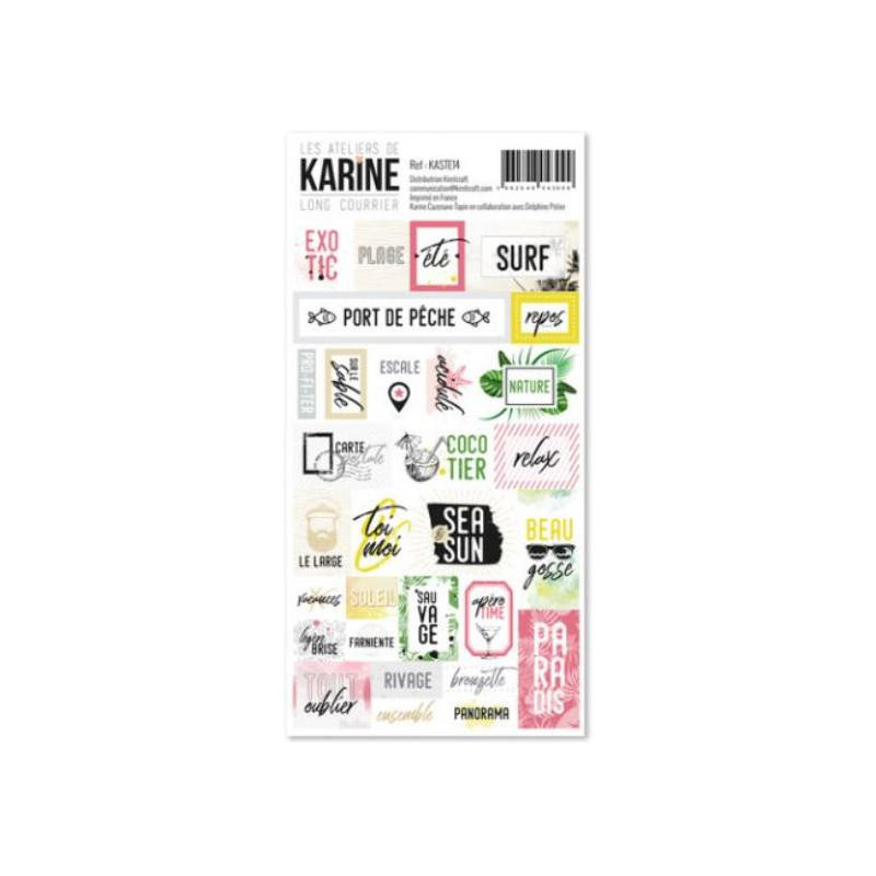 Les Ateliers de Karine - Long Courrier - stickers étiquettes