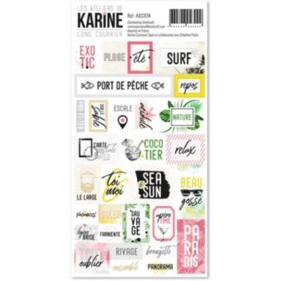 Les Ateliers de Karine - Long Courrier - stickers étiquettes