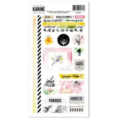 Les Ateliers de Karine - Long Courrier - Stickers 15X30