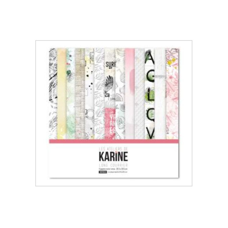 Pack 30x30 - Les Ateliers de Karine - Long Courrier La collection