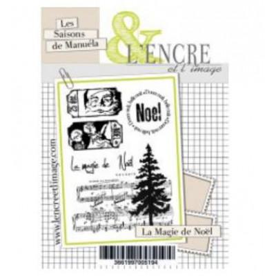 Tampons transparents L'Encre et l'image - La Magie de Noël