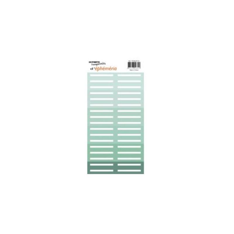 Z'étiquettes transparentes Mint