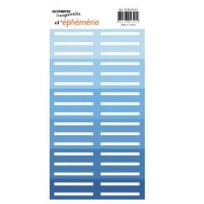 Z'étiquettes transparentes Bleu
