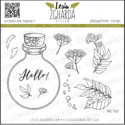 Tampon Lesia Zgharda - Jar and flowers