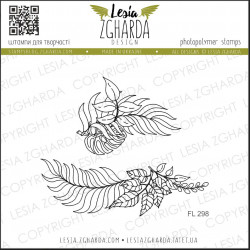 Tampon Lesia Zgharda - Branches with leaves