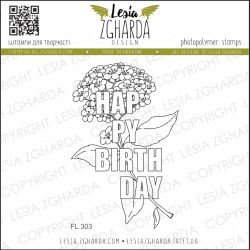 Tampon Lesia Zgharda - Happy Birthday