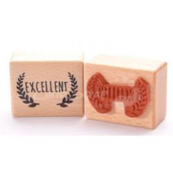 Tampon Bois Cartoscrap - Excellent