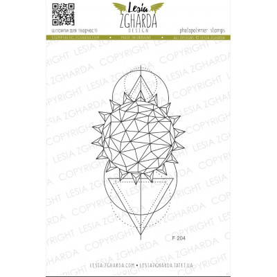 Tampon Lesia Zgharda - Triangle Geometry Sun