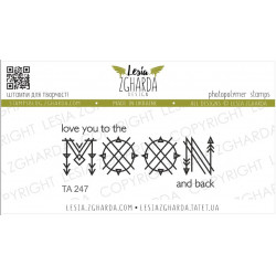 Tampon Lesia Zgharda - Love you to the Moon and back