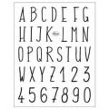 Tampons transparents Viva - Alphabet moderne