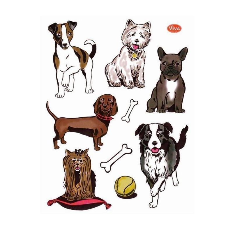 Tampons transparents Viva - Les chiens