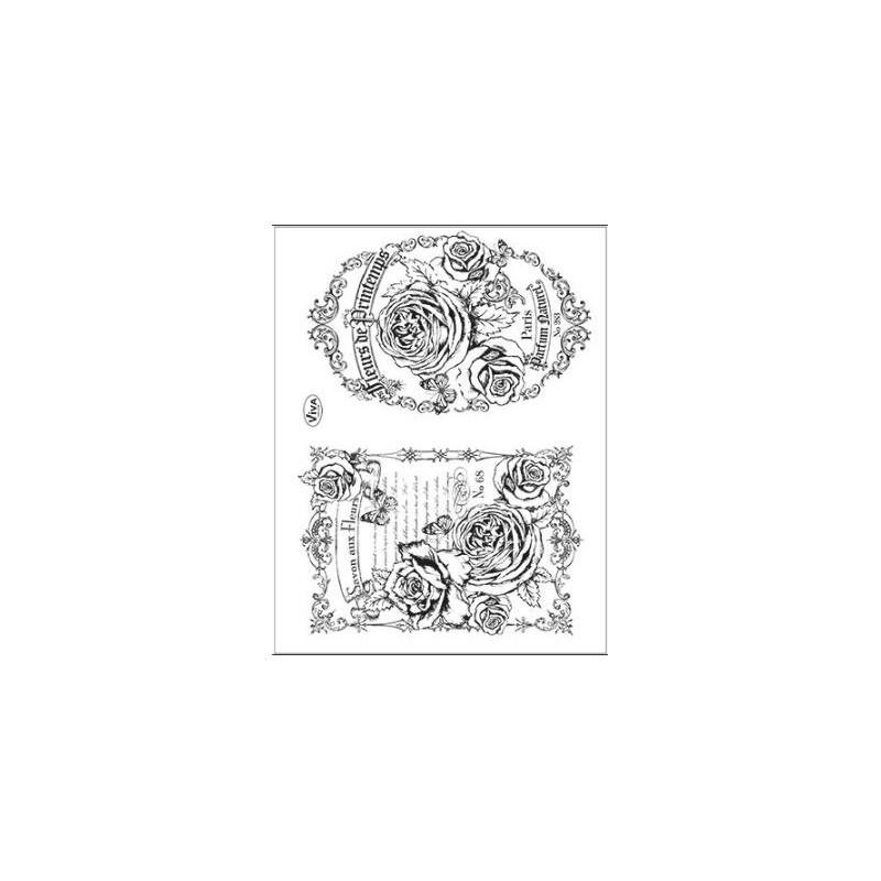 Tampons transparents Viva - Fleurs de Printemps