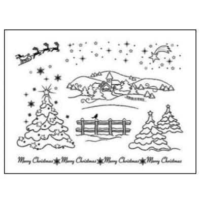 Tampons transparents Viva - Paysages de Noël