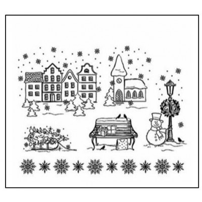 Tampons transparents Viva - Ville de Noël