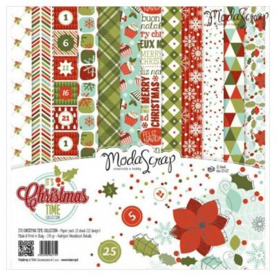 ModaScrap - Paper Pack 30.5 cm x 30.5 cm - Saison de Noel