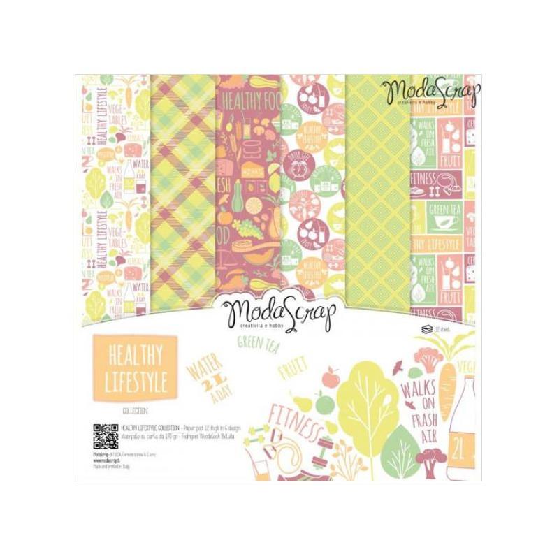 ModaScrap - Paper Pack 30.5 cm x 30.5 cm - Vie saine