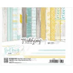 Modascrap - Paper Pack 15.2x15.2 - Meilleurs amis
