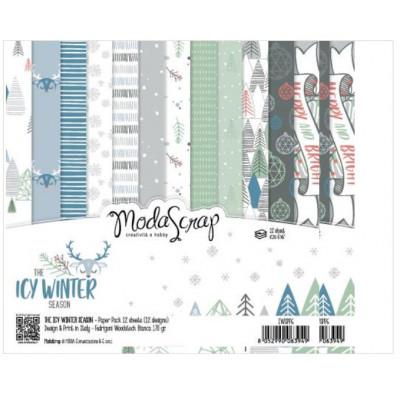 ModaScrap - Paper Pack 15.2x15.2 - Hiver glacé