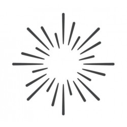 ModaScrap - Pochoir - Rayons de soleil