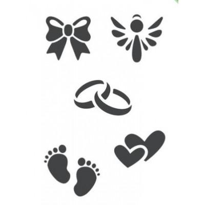 ModaScrap - Pochoir - Mariage et naissance