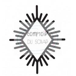 Comptoir Scrap - Tampon Transparent - Losange ethnique