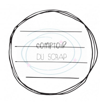 Comptoir Scrap - Tampon Transparent - Cercle manuscrit