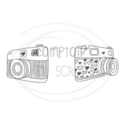 Comptoir Scrap - Tampon Transparent - Duo d'appareils photo