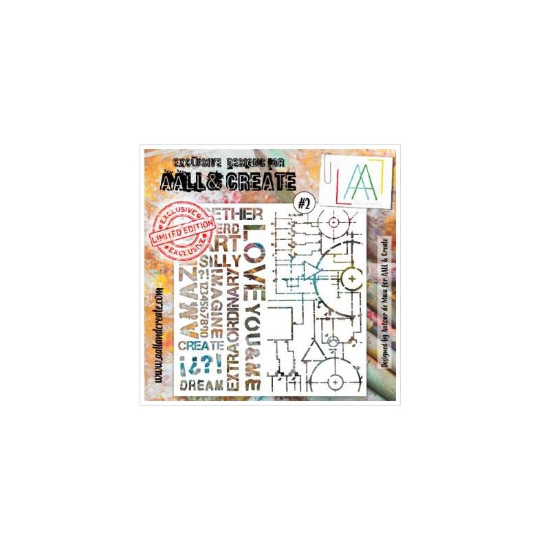 AALL & Create - Pochoir 002 - Love