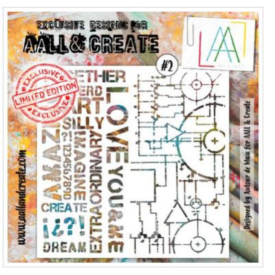 AALL & Create - Pochoir 002 -Love