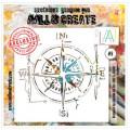 AALL & Create - Pochoir 008 - Boussole